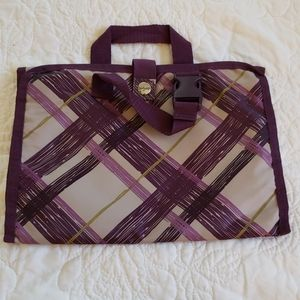 Thirty-one Timeless Beauty Bag Plum Plaid